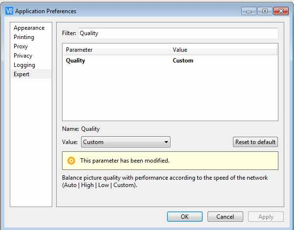 Set Quality Windows VNC Viewer